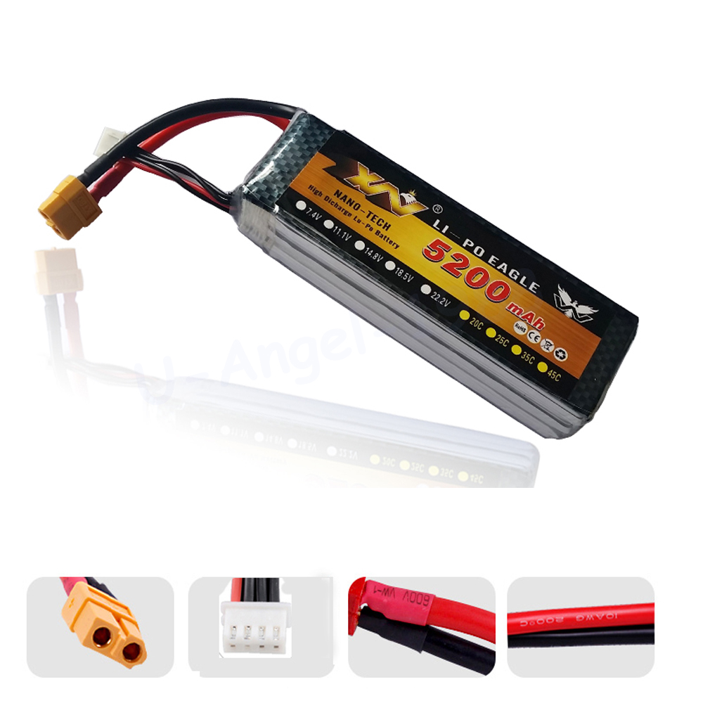 1pcs YW 11.1V <font><b>5200MAH</b></font> 30C 3S <font><b>4S</b></font> MAX 35C AKKU <font><b>LiPo</b></font> RC Battery For Rc Quadcopters Helicopter Car Boat image