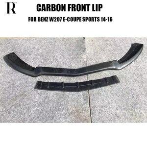 W207 paragolpes delantero de fibra de carbono para Benz W207 Clase E Coupe E200 E260 E300 con paquete AMG Facelift 13-16