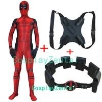 Deadpool Costume Spandex 3D Print Deadpool Cosplay Halloween Costume With Deadpool Sets