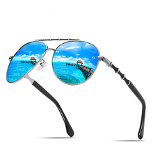 Al-mg Alloy Bamboo Spring Legs Oversized Pilot Polarized Sunglasses Custom Made Myopia Minus Prescription Lens -1 To-6