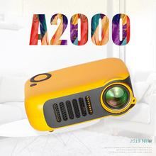 лучшая цена A2000 Mini LCD Projector LED Entertainment Portable Projection Device Support 1080P HD for Home Office