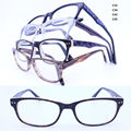 Wholesale F25 full rim bicolor trendy rectangle classic acetate optical glasses frames  flexible hinge temple for wemen