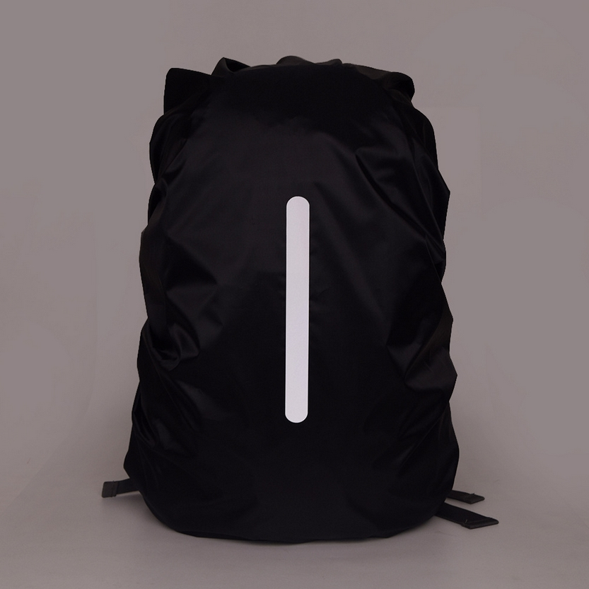 Reflective Waterproof Backpack Rain Cover Outdoor Night Safety Light Raincover Case Bag