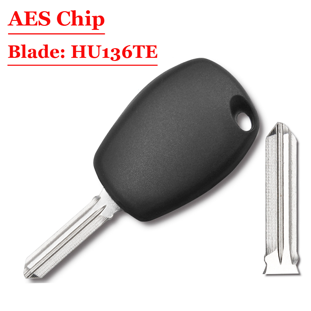 (1Pcs) Transponder Key For Renault Clio Iv Twingo Tacia Ect 2013 With 7939MA HITAG AES Chip No Mark