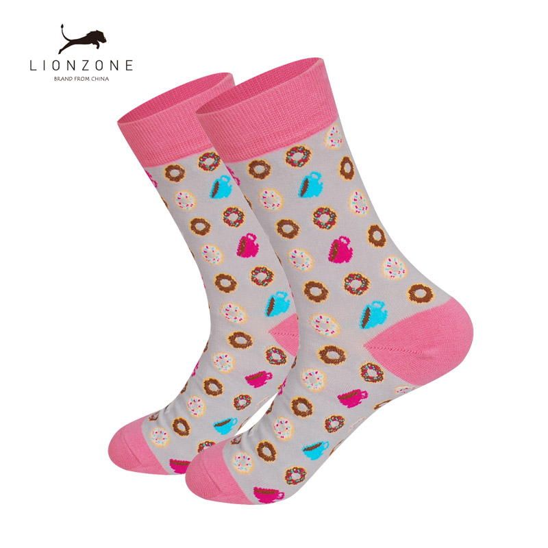 New Arrival Unisex Happy Socks Men&Women Art Abstraction Creative Foods Pattern Sock Fashion Neutral Funny Socks for Spring