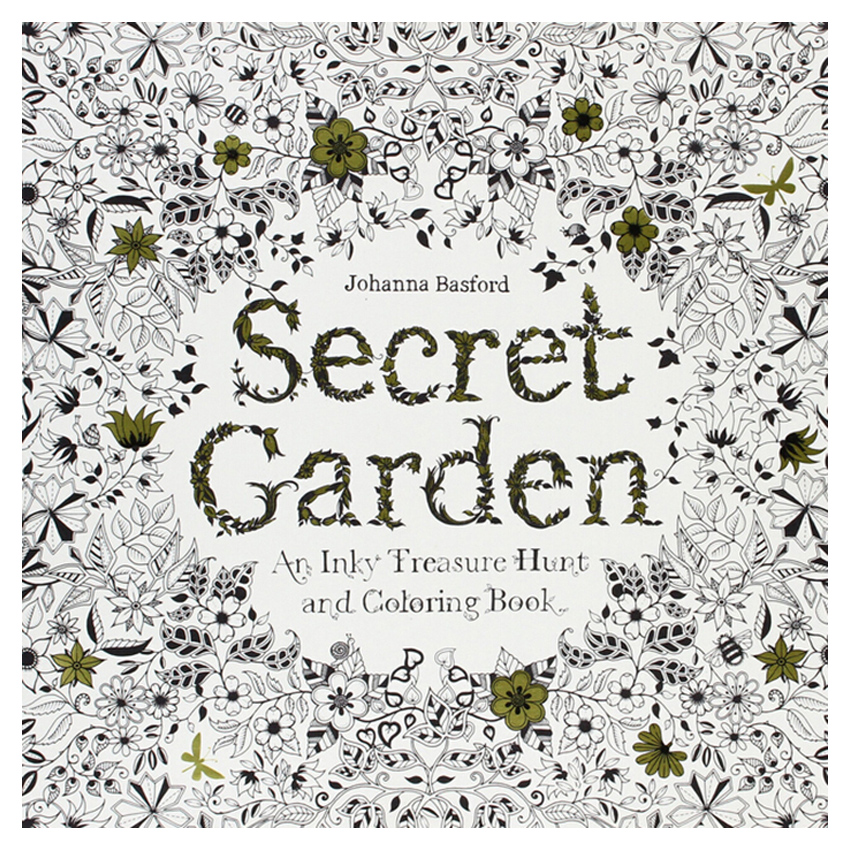 24 Pages Secret Garden Antistress Adults Coloring Books Iibros Infantiles Livros Livre Kids Art Book Libri Colorear Adultos