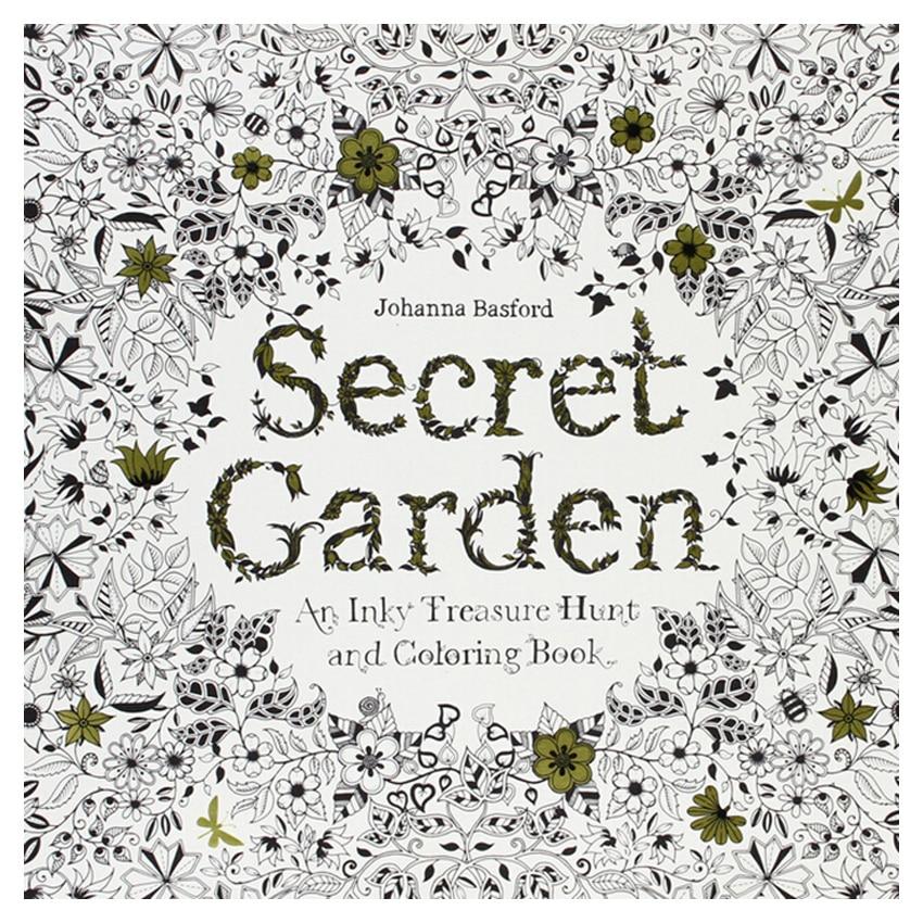 24 Pages Secret Garden Antistress Adults Coloring Books Iibros Infantiles Livros Livre Kids Art Book Libri Colorear Adultos