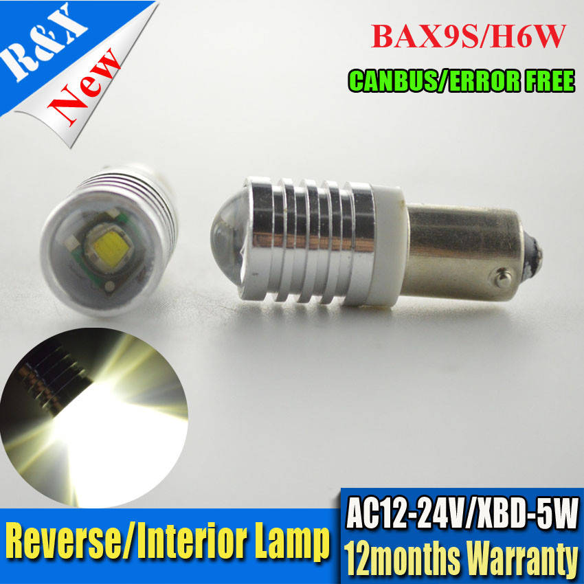 1/2/4/10pcs High Power BAX9S 5W canbus T4W H6W H21W W5W C' REE LED Side Turn Signals No error Reverse Lights White 12-24V