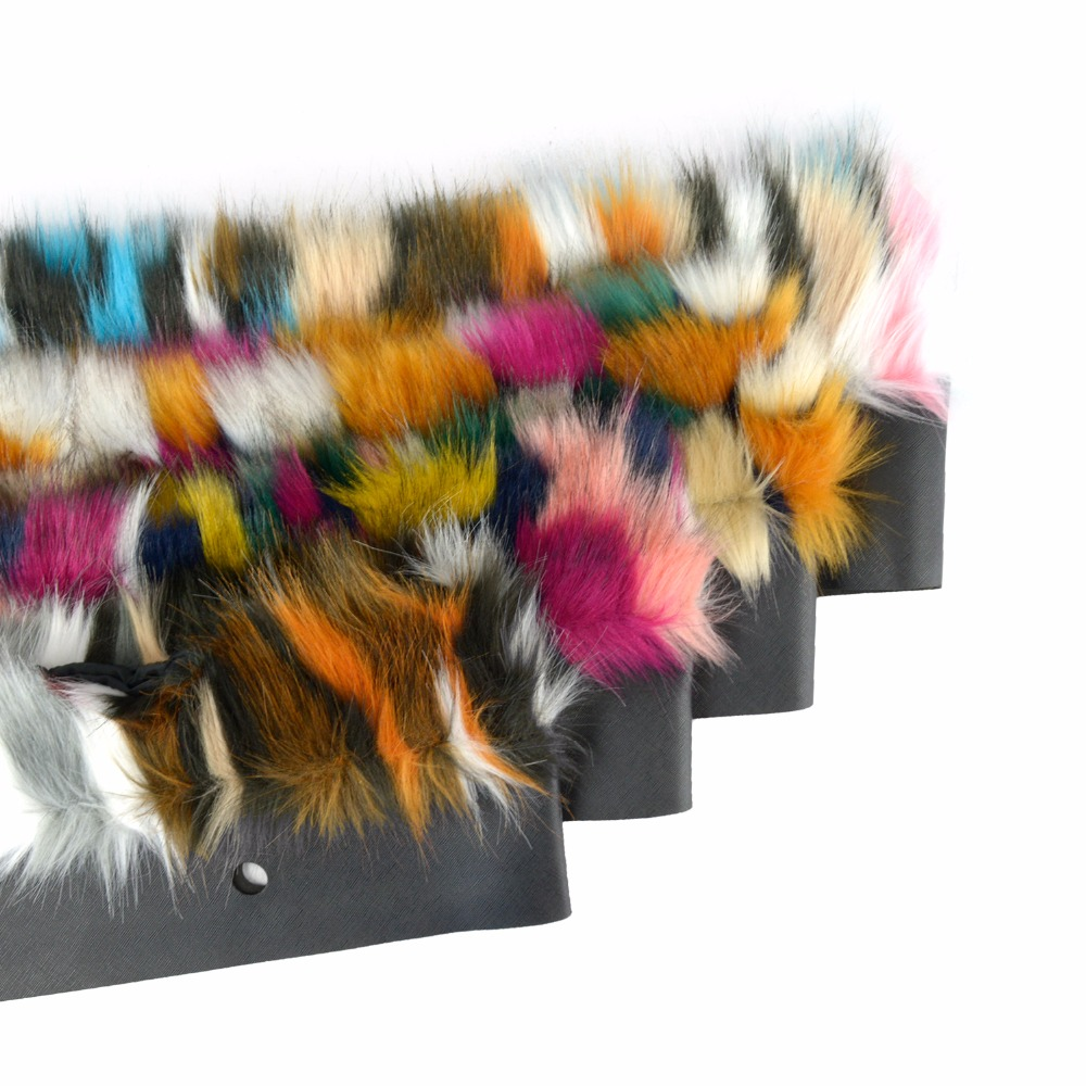 Image 3 - Женская сумка tanqu, разноцветная, с плюшевой обшивкой, с тепловым плюшем, украшением из искусственного меха, подходит для классического большого мини сумкиДетали и аксессуары для сумок   -