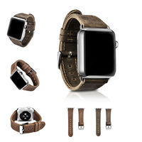 URVOI Band For Apple Watch Series 1 2 Crazy Horse Leather Strap For Iwatch 2 Retro