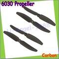 Free shipping 4pcs/lot Mini 6030 6X3 6030R Carbon Fiber Prop Propeller CW/CCW for QAV250/280 H250 Multirotor Quadcopter(2 pair)