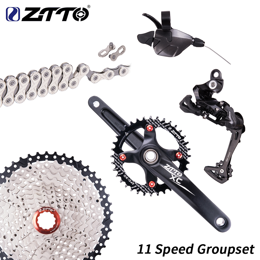ZTTO 1 11 Speed MTB Shifter 11S Bicycle rear Derailleur Cassette and Chain Crankset Chainring Chainwheel