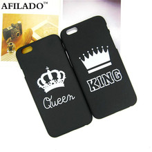 Fashion Brand King Queen Hard Plastic Ultra Thin Back Covers for Apple iPhone 6 6s Luxury