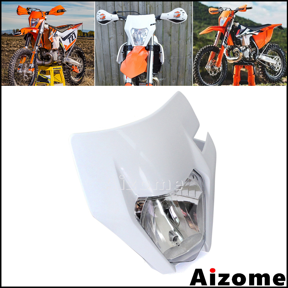 Universal Enduro Dirt Bike Headlight For <font><b>KTM</b></font> MX <font><b>EXC</b></font> SX <font><b>F</b></font> XCF XC 250 300 <font><b>350</b></font> 450 500 <font><b>2016</b></font> 2017 2018 Off Road Headlamp Fairing image