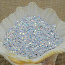 New 50g Brilliant White 3mm Diamond Shape 3D Pvc Loose Sequins for Crafts Paillettes Sewing Wedding Crafts PVC DIY Materials(China)