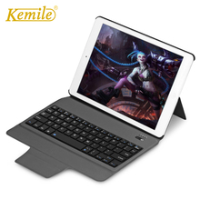 kemile Ultra Slim Bluetooth Keyboard with Stand Leather Case Cover tablet Keypad klavye For iPad Pro 10.5 2017 все цены