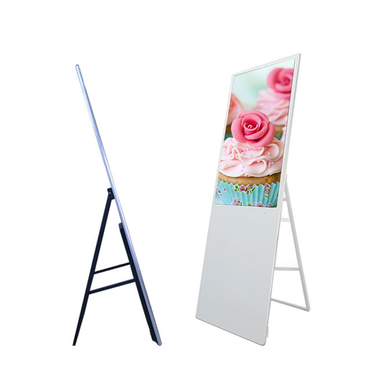 In Quality Adaptable 43inch Indoor Floor Standing Foldable Lcd Digital Signage Advertising Display Screen For Shop/retail Store Excellent