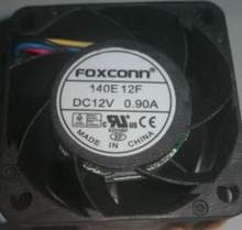 for Foxconn 140E 12F 40*28mm DC 12V 0.9A 4 wires 4 pins dual balls bearing 4cm violence server fan(China)