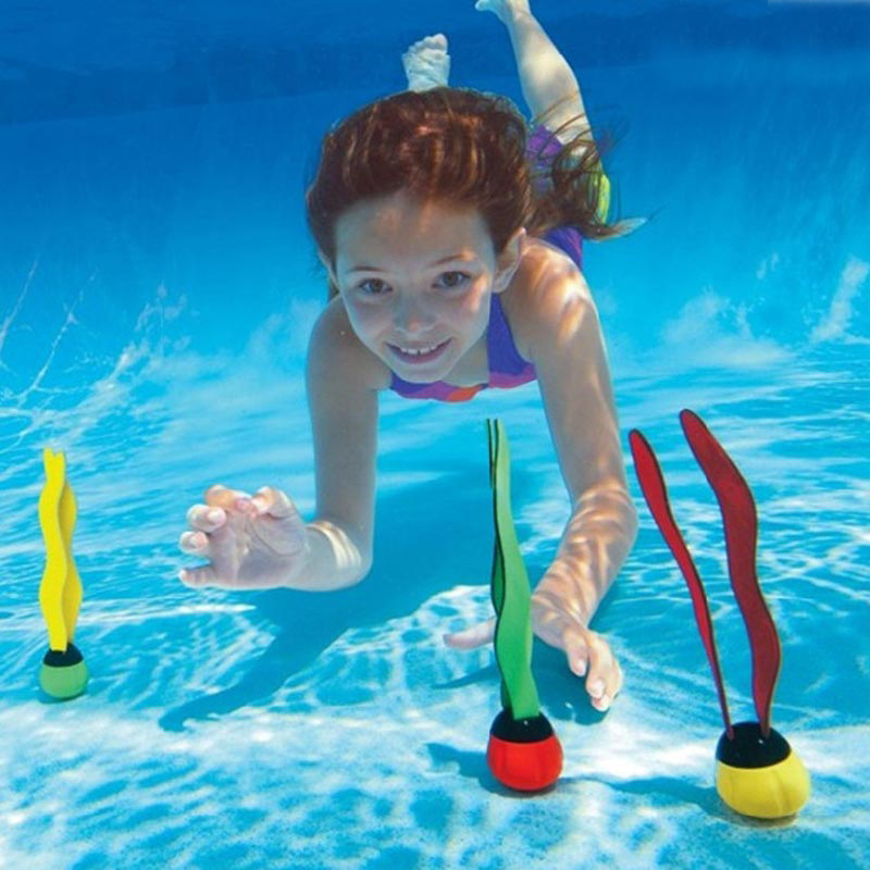 kids pool play outdoor sport dive diving grab stick sea plant swimming swim pool sport child kid accessory summer tub B41001