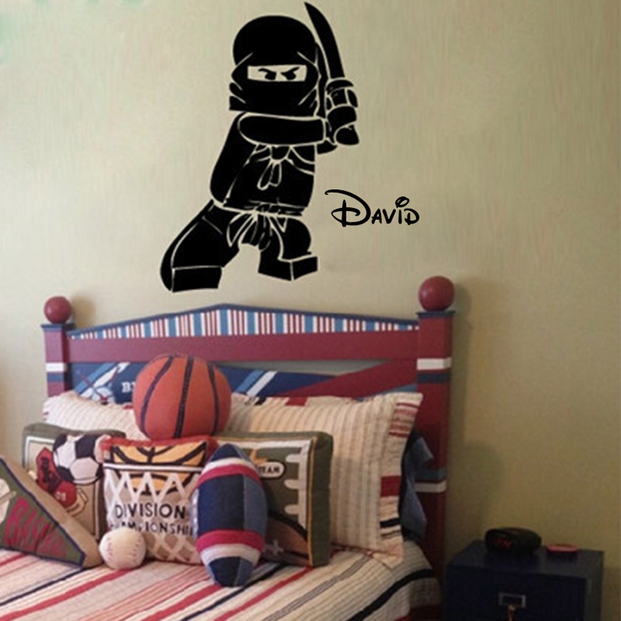 New personalized name ninjago lego vinyl decal sticker for for Personalized kids room decor