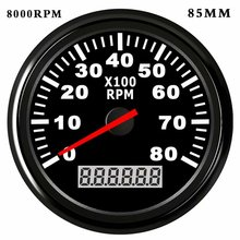 52/85mm Boat Tachometer for Car Marine Tacho Meter Gauge with Hourmeter REV Counter 3000/ 4000 /6000 /8000RPM Meter цена 2017