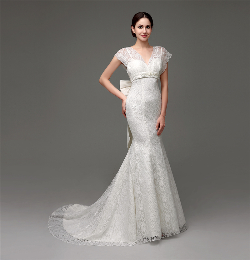 White beautiful lace affordable wedding dress designers modest with ...