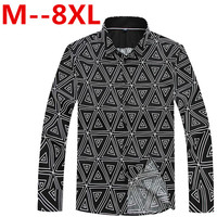 Plus Size 10XL 8XL 6XL 5XL 4X Spring Autumn Features Shirts Men Casual Shirt New Arrival