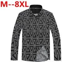 Plus Size 10XL 8XL 6XL 5XL 4X Spring Autumn Features Shirts Men Casual Shirt New Arrival