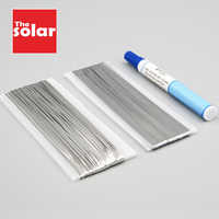 20 Meters Tabbing Tab Wire + 2 Meters PV Ribbon Bus Wire + 1pc 951 Soldering Rosin Flux Pen For DIY Soldering Solar Cell Panel