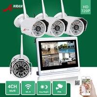1TB HDD ANRAN HDMI 4CH P2P 720P 12 LCD Monitor WIFI NVR 48IR Outdoor Waterproof IP