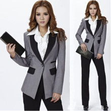 Grey Jacket+Black Pants Women Ladies Business Office Tuxedos Work Wear New Suits Jacket+Pants