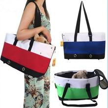 749dafd30889 Fashion Striped Dog Bag Pet Single Shoulder Handbag Holiday Festival  Carrier Sling Tote For Small Dog