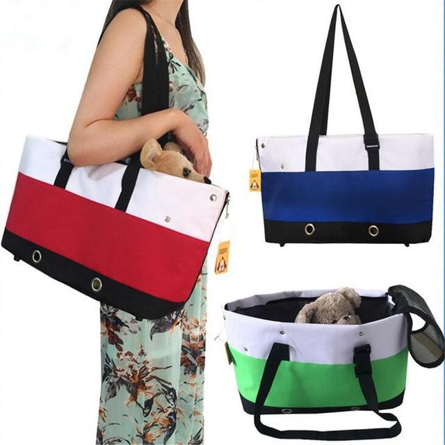 Mode Gestreiften Hund Tasche Haustier Einzelnen Schulter Handtasche