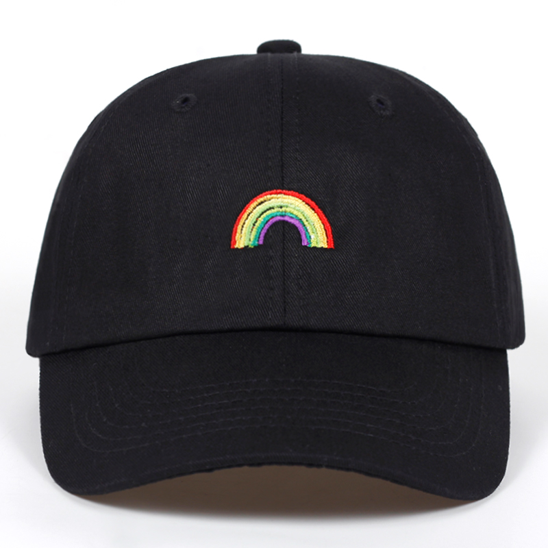 High Quality   Baseball     Cap   Unisex Men Women Brand Cotton Rainbow Snapback   Caps   Hip Hop Hats Dad Hat Bone Garros