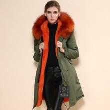 6b32a8c4bff093 Italien Name Marke Lang Designer Fashion Mr Mrs Jacken Realer Pelz trim  Mantel