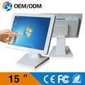 15 inch resolution 1024x768 white metal case all in one pc desktop computers touch screen table with Intel J1900 2GB RAM 32G SSD