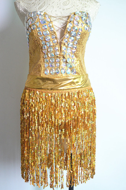 Певица блестка Золото серебро кисточки сексуальные женские костюмы для певица танцор star bar show производительности партия ночной клуб