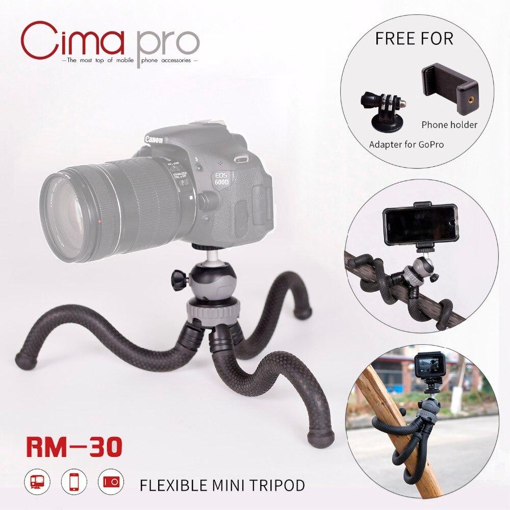 CimaPro RM-30 Extérieure Octopus trépieds Portable Téléphone titulaire Mini Table Pour téléphone caméra Sport caméra pour GoPro peut déformer