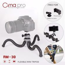 CimaPro RM-30 Outdoor Octopus tripod Portable Phone holder Mini Tabletop For phone camera Sports camera for GoPro can deform(China)