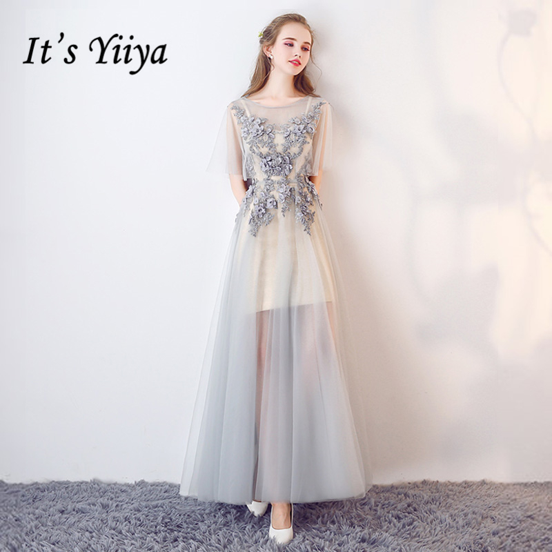 It's YiiYa 2018 Sales Fashion Designer   Prom   Gown Simple Lace Flower Pattern Luxury   Prom     Dresses   Dancing Party LX202