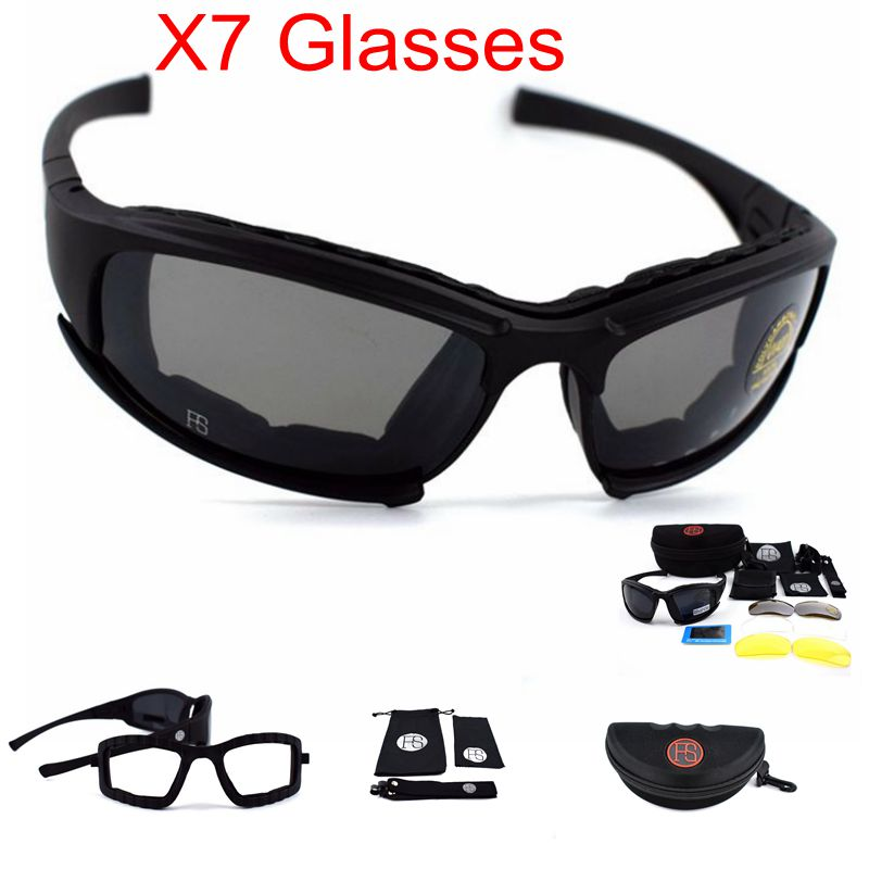 Tactical Airsoft Goggles X7 Polarized  Military Sunglasses Army Glasses Shooting Hunting Camping Sports Sunglasses