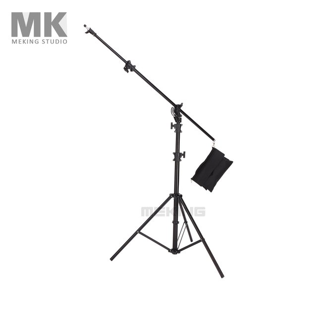 "Meking Lighting Stands Heavy Duty 5M 16'4"" M-3 Light Boom stand with sand bag Photo studio support photography Accessories"