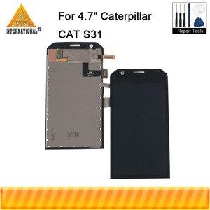 """Image 1 - מקורי Axisinternational 4.7 """"עבור קטרפילר חתול S31 LCD תצוגת מסך + מגע פנל Digitizer עצרת עבור חתול S31 תצוגה"""