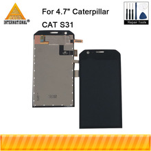 "Original Axisinternational 4.7"" For Caterpillar CAT S31 LCD Display Screen+Touch Panel Digitizer Assembly For Cat S31 Display"