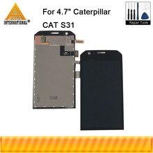 """Tela de reposição para gatinho axisinternacional, tela lcd, painel de toque, montagem digitalizadora para gato s31, 4.7"""""""