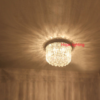 Contemporary Crystal Lighting Ceiling Led Lights For Home Round Ceiling Lamp Master Room K9 Crystal Stainless