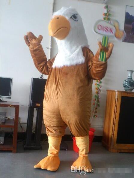 99 $ en Stock Costume de mascotte de faucon aigle brun Halloween fête d'anniversaire de noël tenue de carnaval accessoires complets - 2