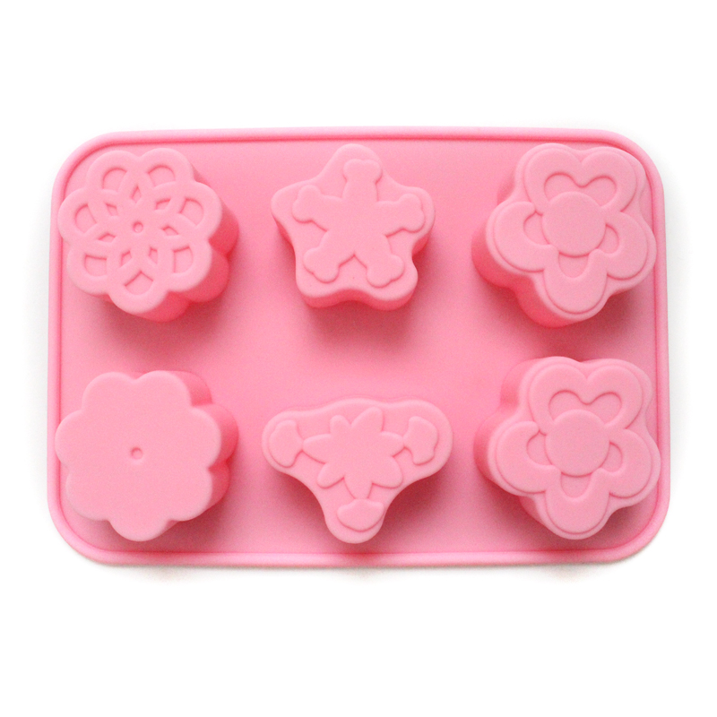 Flower Silicone Soap Molds Chocolate Gumpaste Mold Craft Egg Tart Cookies Cake Baking Tools in Soap Molds from Home Garden