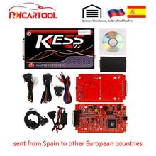 KESS V2 V5.017 EU красная печатная плата без жетона ограниченная ECM титановая KTAG V7.020 мастер-версия ECU Инструмент для программирования автомобиля/трактора/велосипеда V4.036