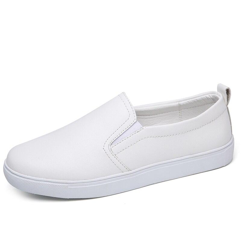Mocassins silver Blue black En Vente Cuir Casual Chaussures Laçage Printemps Zapatos Été sky Beige Pour Femmes white Dames Nouvelle 2018 Mujer Plat OqARwHW